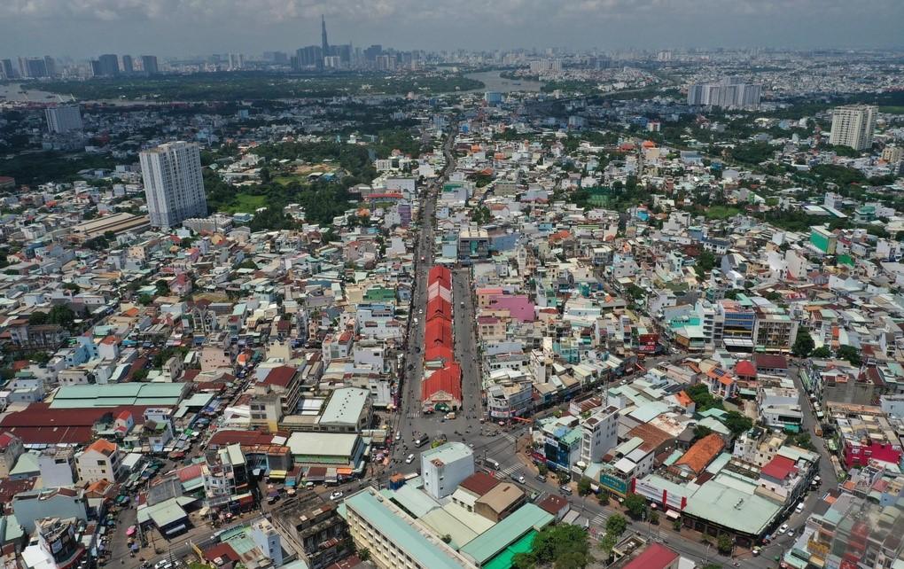 Khu dân cư quanh chợ Thủ Đức. Ảnh: Zingnews