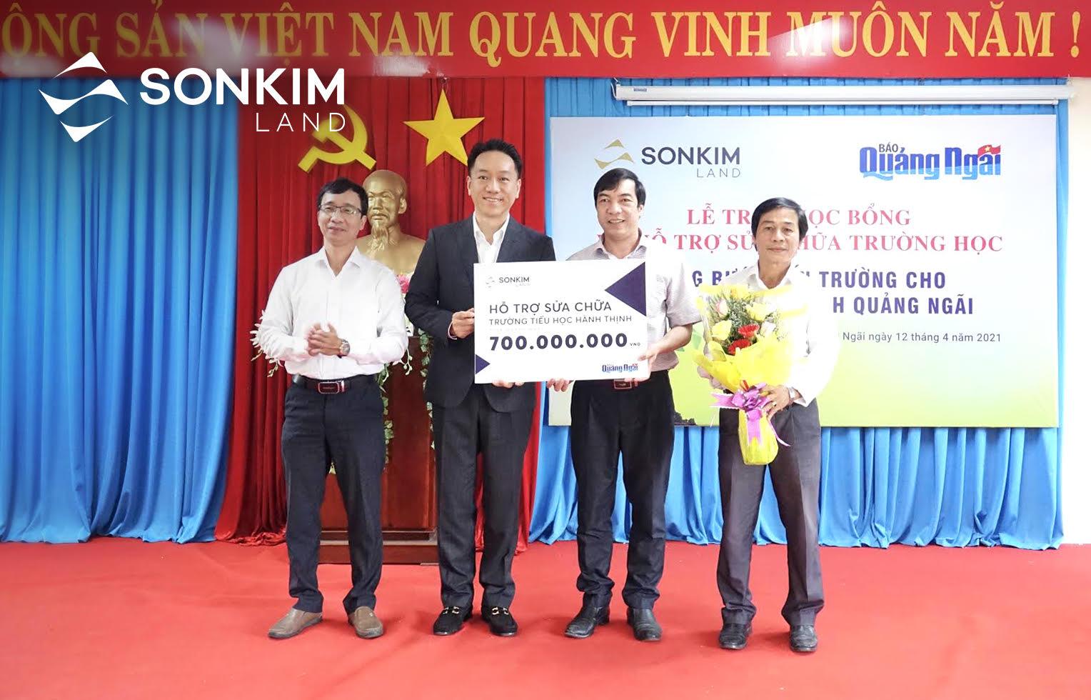 SonKim Land tiếp tục nỗ lực nâng bước đến trường cho học sinh nghèo tỉnh Quảng Ngãi 3