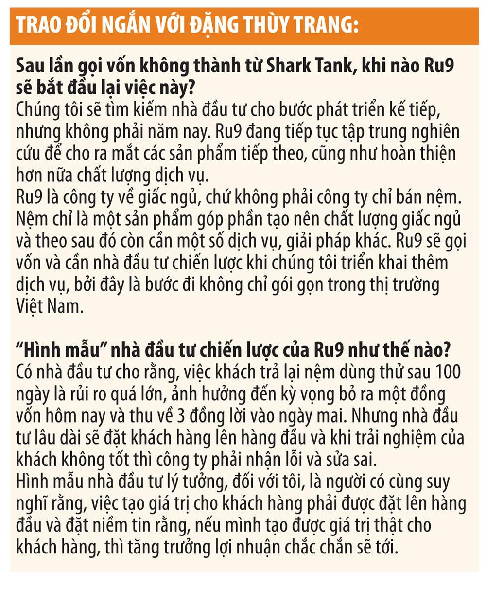 """Đặng Thuỳ Trang, nhà sáng lập, Giám đốc điều hành Ru9: """"Mọi người xứng đáng có giấc ngủ ngon"""" 1"""
