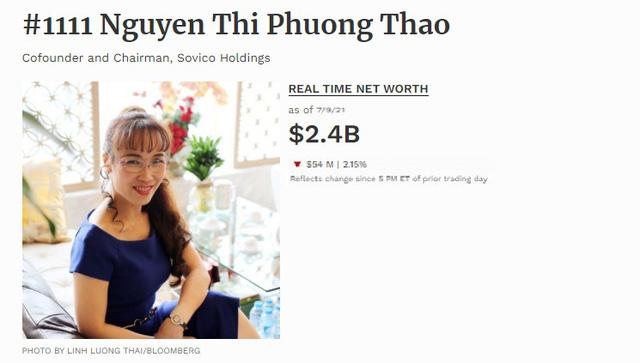 Nữ doanh nhân trở thành tỷ phú số 1111 thế giới trên bảng xếp hạng Forbes 9