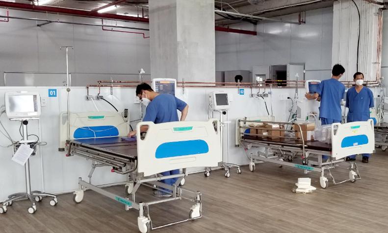 Hơn 20 ngày thần tốc cải tạo Trung tâm hồi sức tích cực người bệnh Covid -19 9
